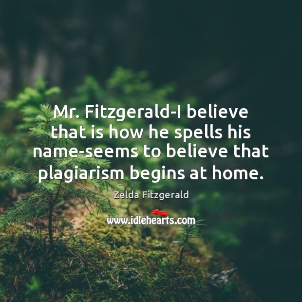 Image, Mr. Fitzgerald-I believe that is how he spells his name-seems to believe