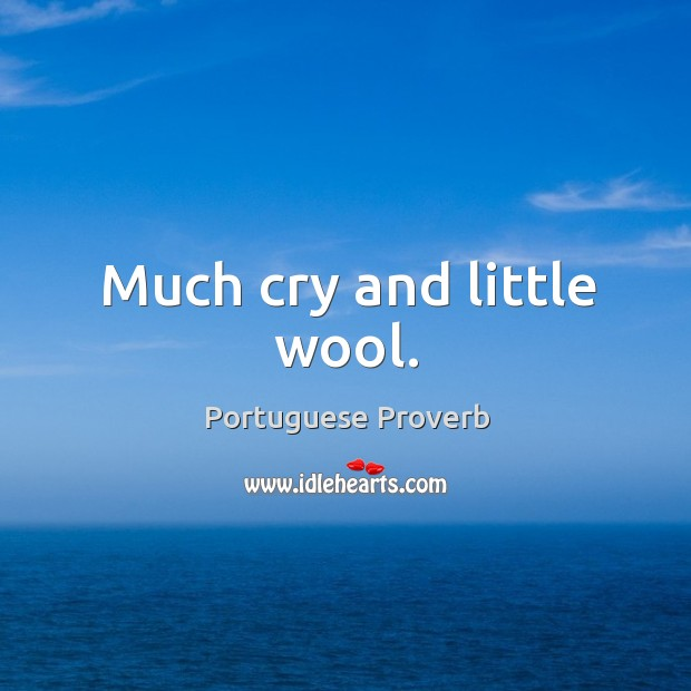 Much cry and little wool. Image