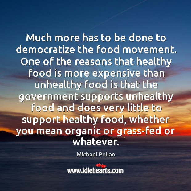 Much more has to be done to democratize the food movement. One Image