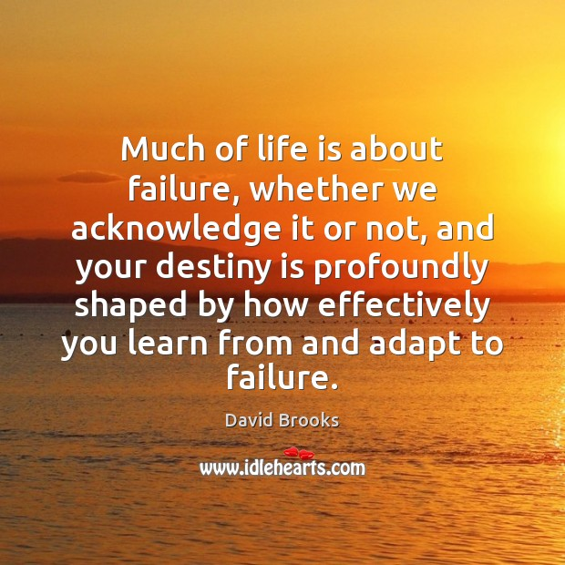 Much of life is about failure, whether we acknowledge it or not, Image
