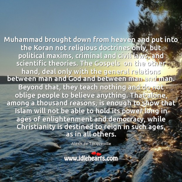 Image, Muhammad brought down from heaven and put into the Koran not religious