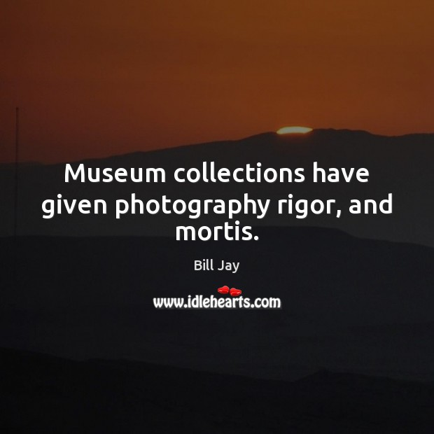 Museum collections have given photography rigor, and mortis. Image