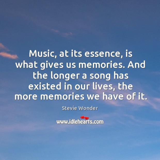 Image, Music, at its essence, is what gives us memories. And the longer