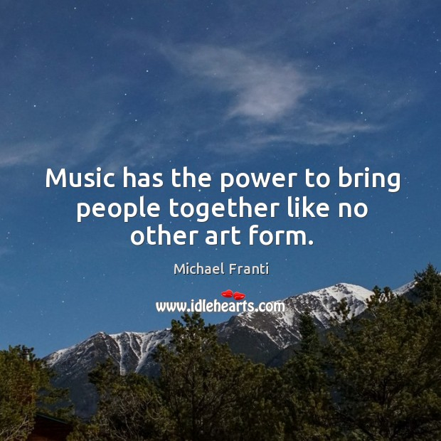 Music has the power to bring people together like no other art form. Image