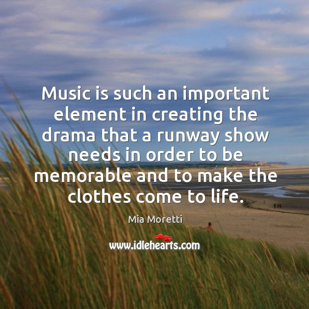 Music is such an important element in creating the drama that a Image