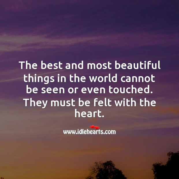 Must be felt with the heart. Funny Messages Image