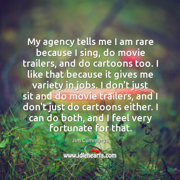 Image, My agency tells me I am rare because I sing, do movie