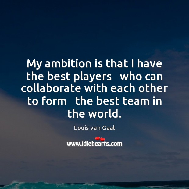 Image, My ambition is that I have the best players   who can collaborate