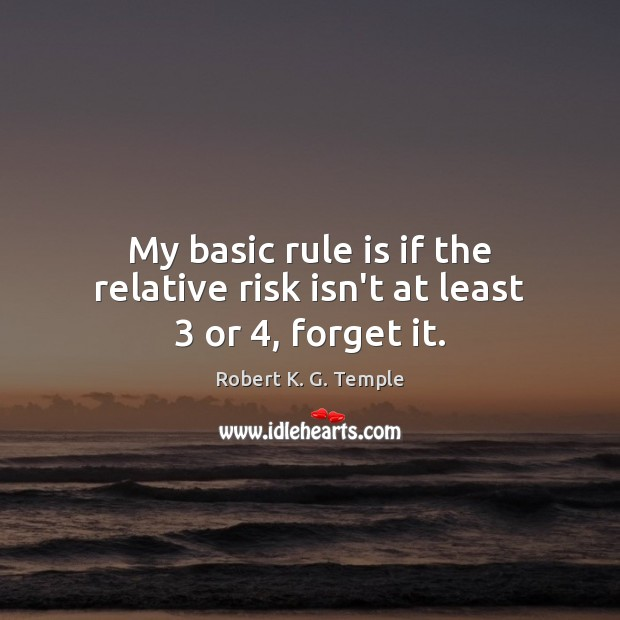 My basic rule is if the relative risk isn't at least 3 or 4, forget it. Image