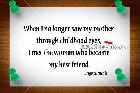 I Met The Woman Who Became My Best Friend.