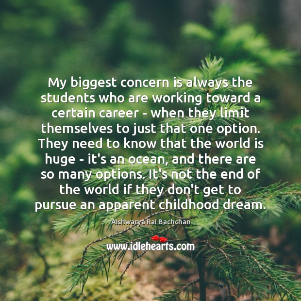 Image, My biggest concern is always the students who are working toward a