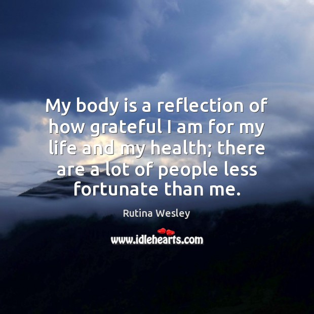 My body is a reflection of how grateful I am for my Image