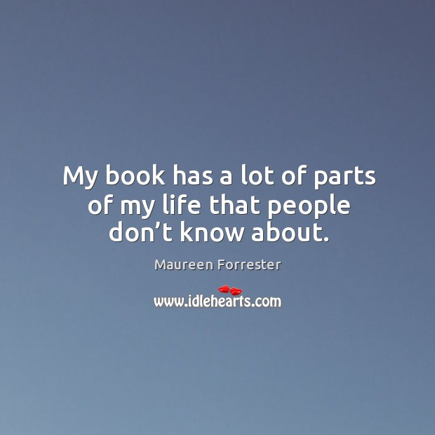 My book has a lot of parts of my life that people don't know about. Image