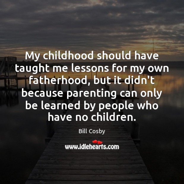 My childhood should have taught me lessons for my own fatherhood, but Image