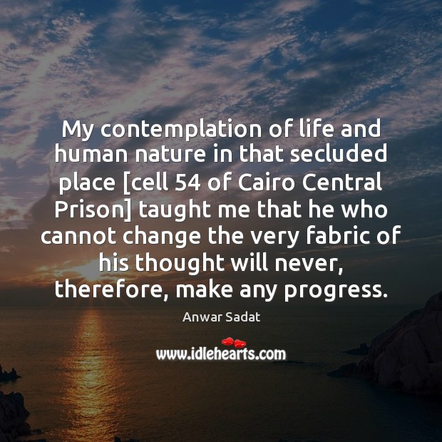 My contemplation of life and human nature in that secluded place [cell 54 Image