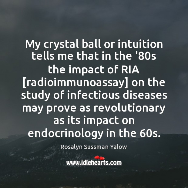 My crystal ball or intuition tells me that in the '80s Image
