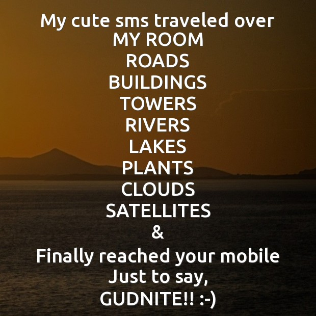Image, My cute sms traveled over