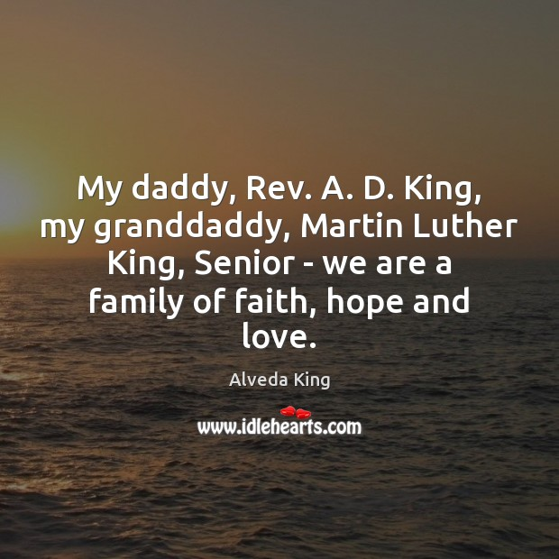 Image, My daddy, Rev. A. D. King, my granddaddy, Martin Luther King, Senior