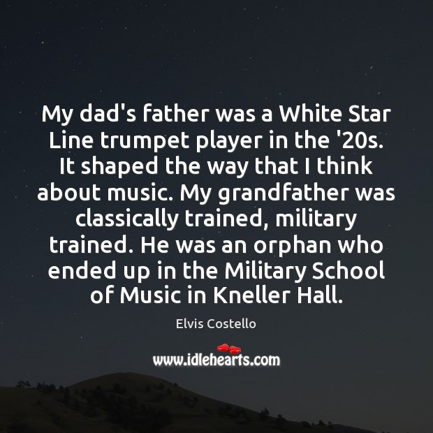 My dad's father was a White Star Line trumpet player in the Image