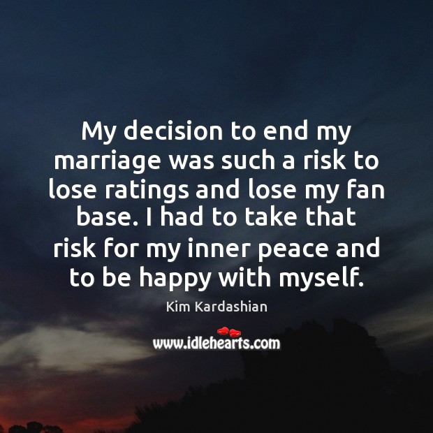 Image, My decision to end my marriage was such a risk to lose