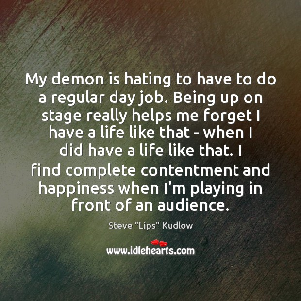 My demon is hating to have to do a regular day job. Image