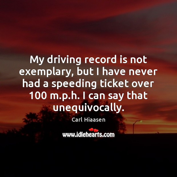 My driving record is not exemplary, but I have never had a Image