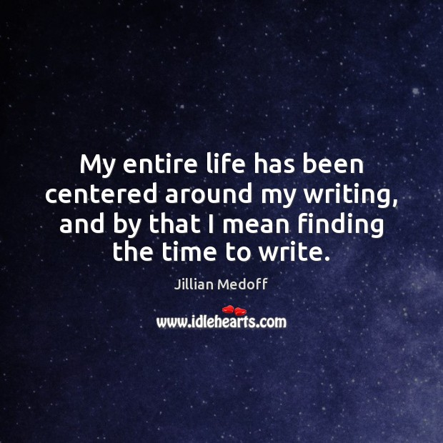 My entire life has been centered around my writing, and by that Image
