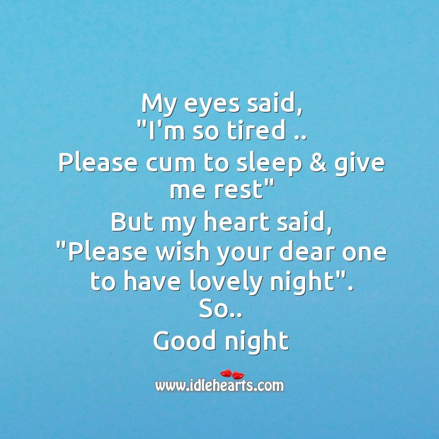 My eyes said Good Night Messages Image