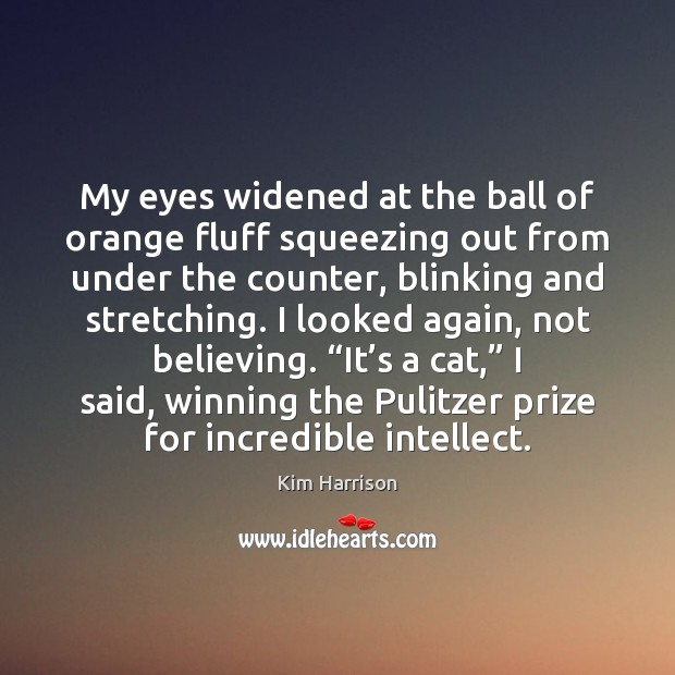 My eyes widened at the ball of orange fluff squeezing out from Image