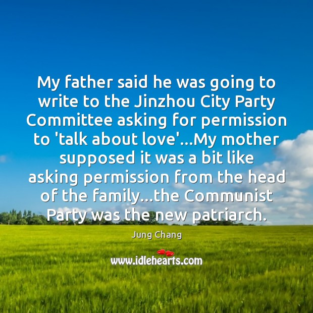 Image, My father said he was going to write to the Jinzhou City
