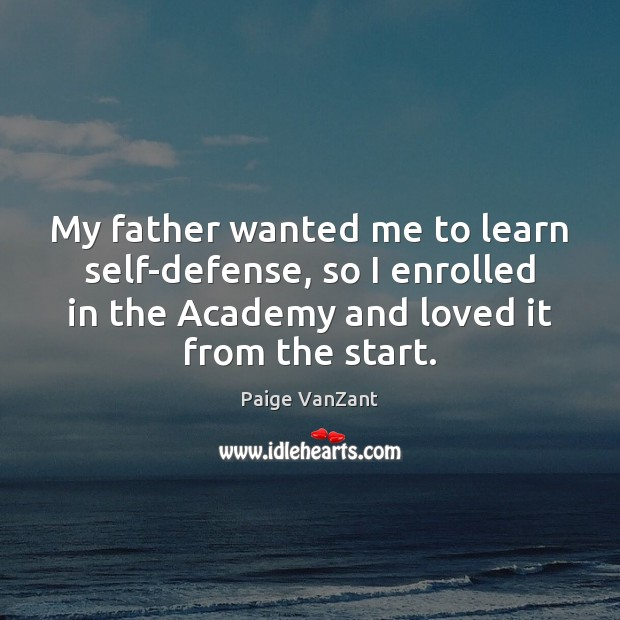 Image, My father wanted me to learn self-defense, so I enrolled in the