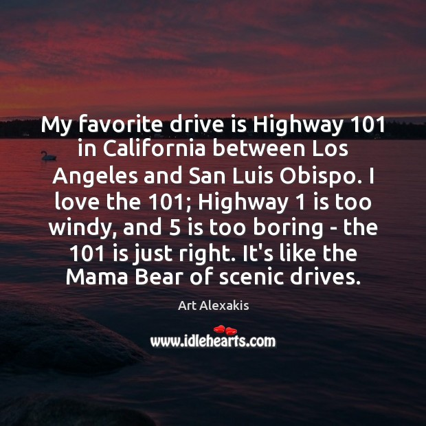 Image, My favorite drive is Highway 101 in California between Los Angeles and San