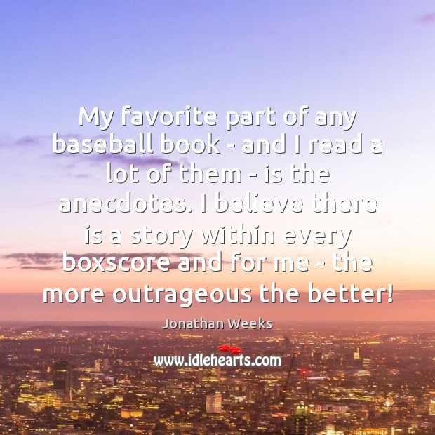 My favorite part of any baseball book – and I read a Image