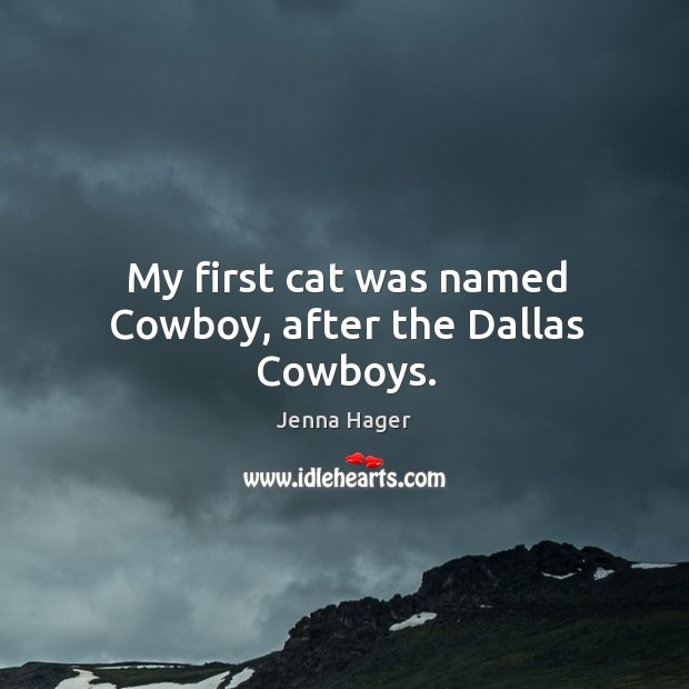 My first cat was named cowboy, after the dallas cowboys. Image