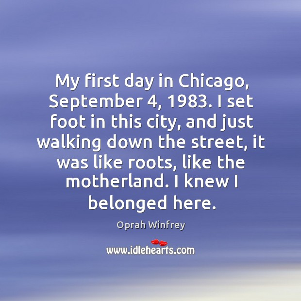 My first day in chicago, september 4, 1983. Image