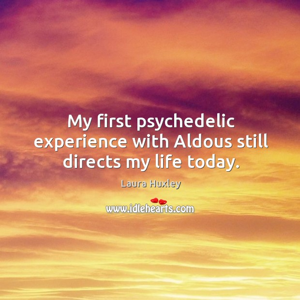 Image, My first psychedelic experience with Aldous still directs my life today.