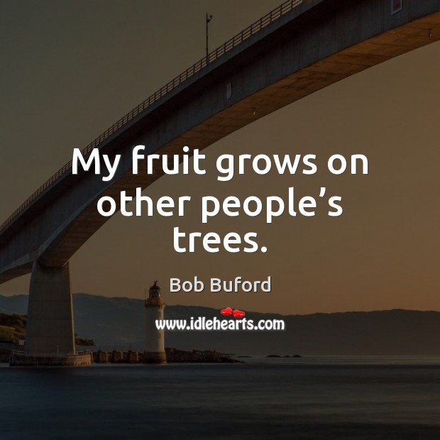 Image, My fruit grows on other people's trees.