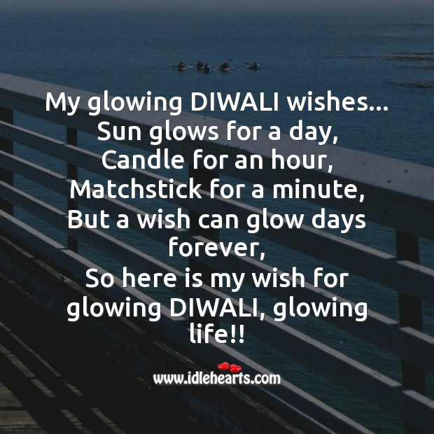My glowing diwali wishes Diwali Messages Image