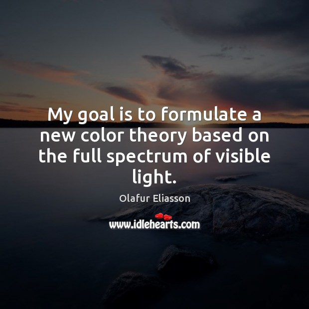 My goal is to formulate a new color theory based on the full spectrum of visible light. Image