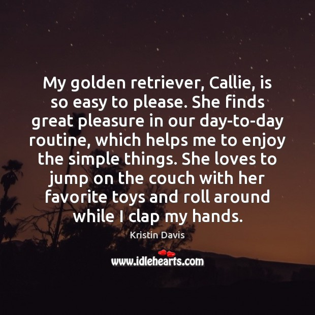 My golden retriever, Callie, is so easy to please. She finds great Image