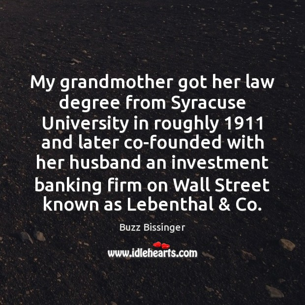 Image, My grandmother got her law degree from Syracuse University in roughly 1911 and