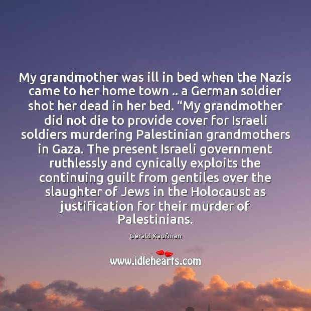 My grandmother was ill in bed when the Nazis came to her Image