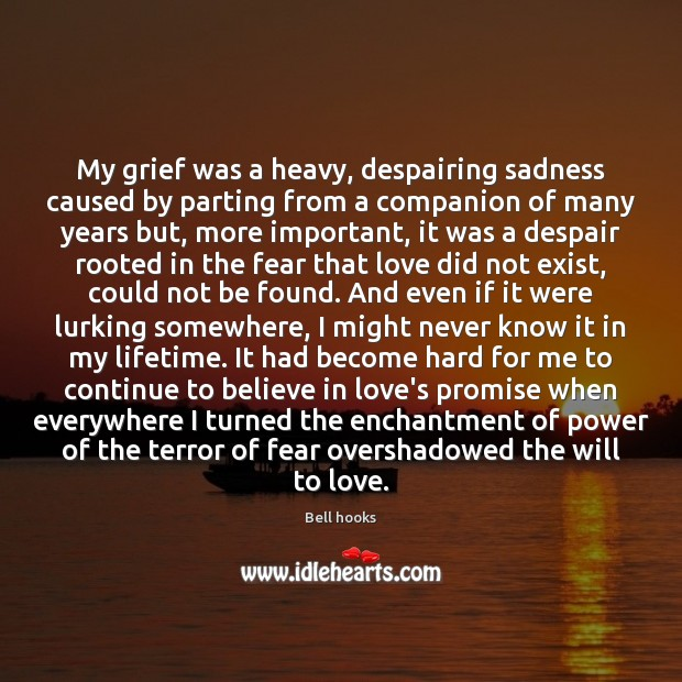 My grief was a heavy, despairing sadness caused by parting from a Promise Quotes Image