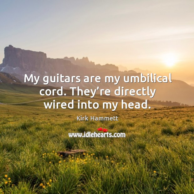My guitars are my umbilical cord. They're directly wired into my head. Image