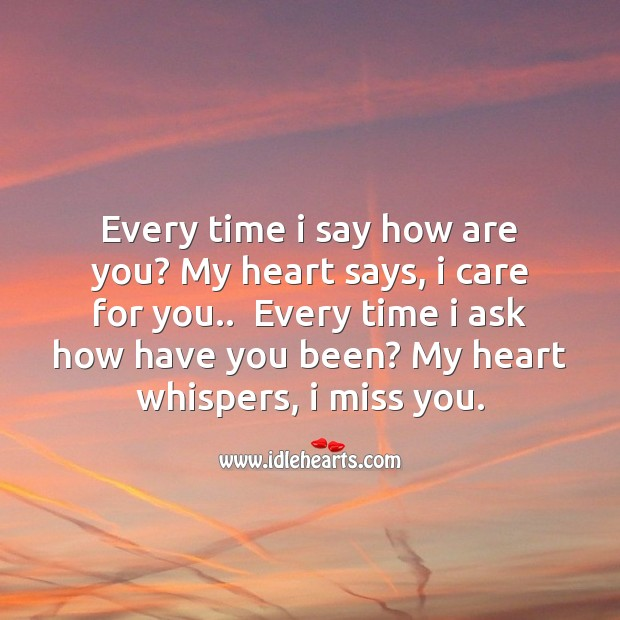 Image, My heart whispers, I miss you.