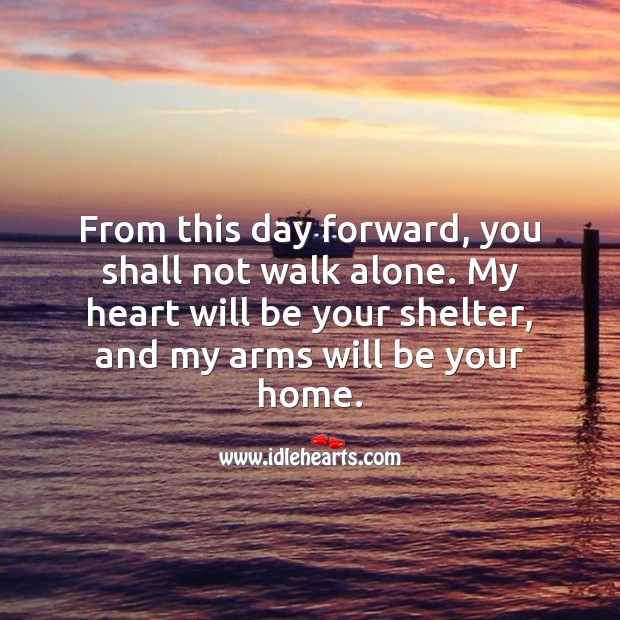My heart will be your shelter Love Messages Image