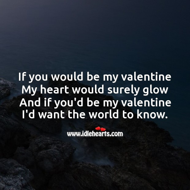 My heart would surely glow Valentine's Day Messages Image