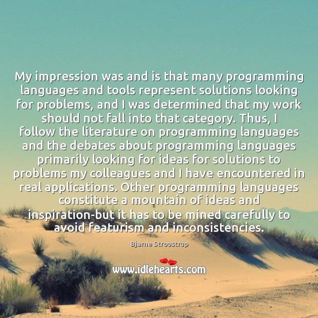 Image, My impression was and is that many programming languages and tools represent