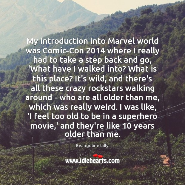 Image, My introduction into Marvel world was Comic-Con 2014 where I really had to