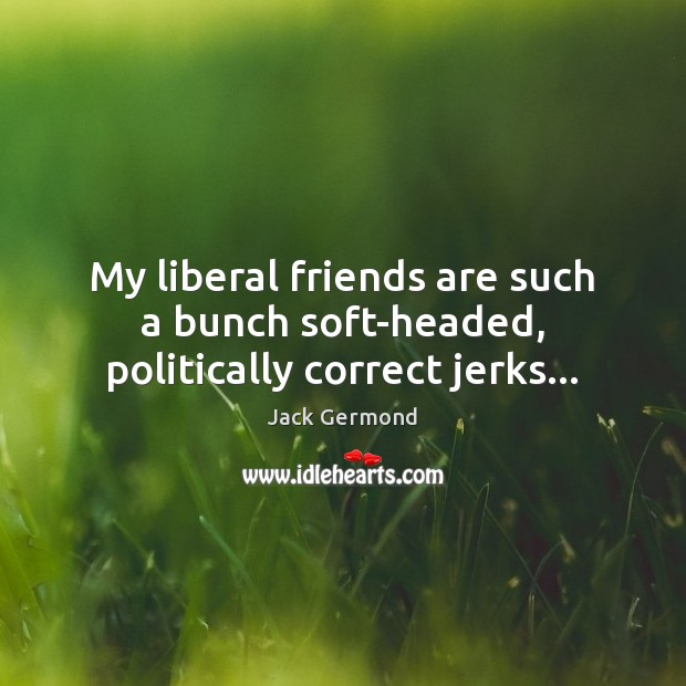 Image, My liberal friends are such a bunch soft-headed, politically correct jerks…